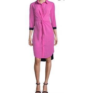 Project runway twist front shirt dress
